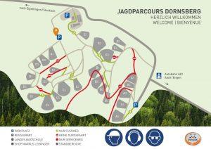 Lageplan Jagdparcours Dornsberg