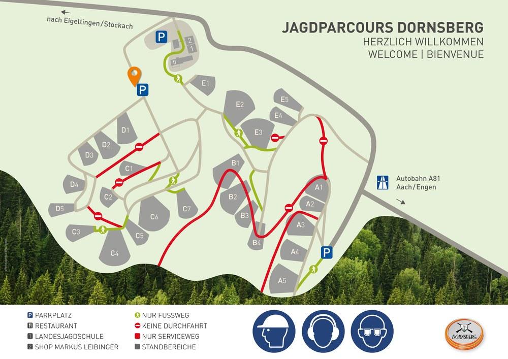 Site plan Hunt Parcours Dornsberg