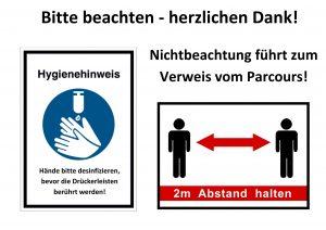 Bitte beachten: Hygieneregeln