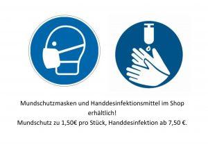 Mundschutz & Desinfektion